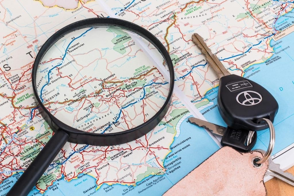 map and car keys