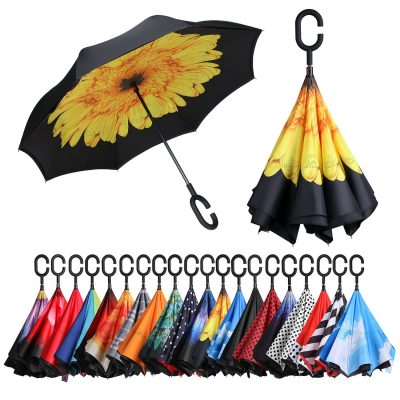 inverted reverse folding umbrella