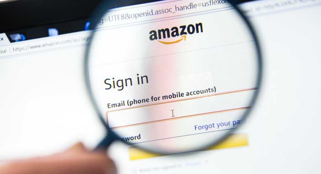 picture of Amazon account login